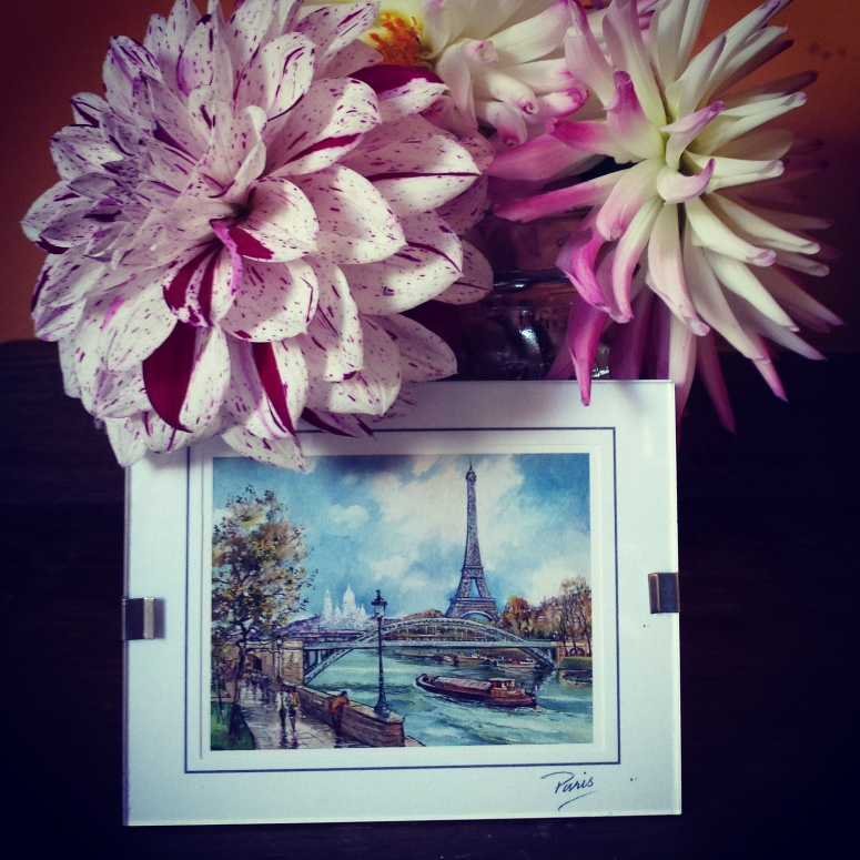 flowers and Paris