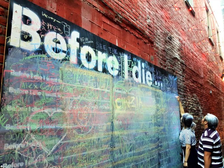 Before I die, I want to fall in love again....